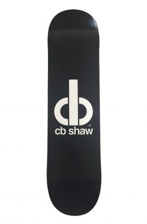 cb shaw logo skateboard